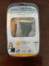 NEW Belkin F5U002v1 USB to Parallel Printer Adapter Cable w/ Software & Manual