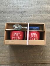Rae Dunn Happy 4th Fourth of July Ice Cream Bowls and Scoop Set