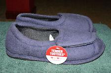 Tender Tooties Extra Wide Navy Blue Hook & Loop Open Toe SMALL Slippers 5-6