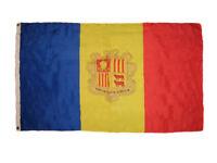 3x5 Andorra Premium Quality Fade Resistant Flag 3'x5' Banner Grommets
