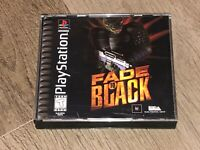 Fade to Black Playstation 1 PS1 Complete CIB Mint Disc