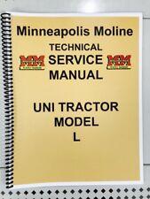 Model L Uni Tractor Minneapolis Moline Technical Service Shop Manual