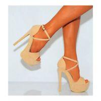 Femmes Bretelles Plateformes Talon Aiguille Bout Ouvert Sandale Chaussures Haut