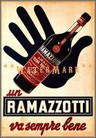 Ramazzotti Amaro Liqueur 1950 Italy It's Always Good Vintage Poster Print Advert