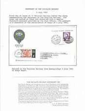 1965 TOPICAL RAILROAD GREAT BRITAIN COVER TALYLLYN RAILWAY CENTENARY
