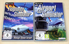 2 PC SPIELE SAMMLUNG ATC AIRPORT TOWER SIMULATOR & FLUGHAFEN SIMULATOR -- (2013)