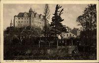Zschopau in Sachsen alte Ansichtskarte ~1930 Partie am Schloss Wildeck  Garten