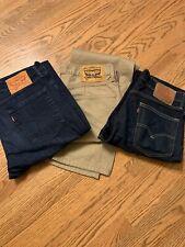 3 Levis Jeans 2 514 & 1 505 32x32
