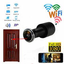 HD 1080P wireless WIFI Smart Door Peephole Wide angle camera network IP Recorder