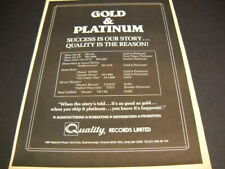 DIANA ROSS Stevie Wonder RONI GRIFFITH 1982 Promo Poster Ad GOLD & PLATM mint