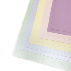 Seasonal Pack of Pastel Pearlised Cardstock A4   10 sheets