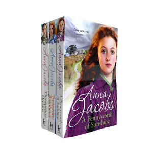 Anna Jacobs Collection Michaels Family Series 3 Books Set,Threepenny Dreams NEW