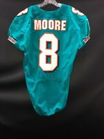 #8 MATT MOORE MIAMI DOLPHINS GAME USED AQUA NIKE JERSEY SIZE-44 -YEAR 2012