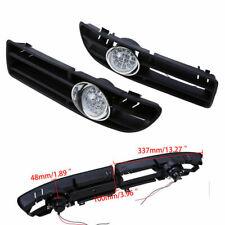 2x Clear Front LED Fog Light Lapms Bumper Grille For VW Bora Jetta MK4 1999-2007