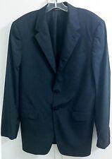 Prada Italy Black Striped Cotton Silk Suit Blazer Jacket Men's Size 40R EUR 50R
