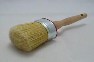 60mm OVAL Pure Bristle Professional Paint Brush, Chalk Paint, Wax & Oil Paint.