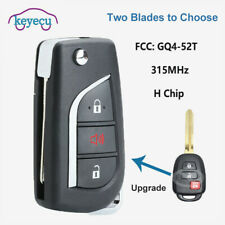 Upgraded Remote Key Fob 3+1 Button 314MHz for Toyota 14-16 Corolla Camry H chip