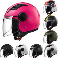 LS2 OF562 Open Face Jet Scooter Motorbike Motorcycle Helmet Airflow Long Visor