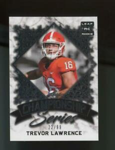 2021 Leaf Championship Series Silver XRC Trevor Lawrence /99 RC Rookie