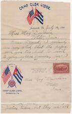 1898 - Spanish-American War Patriotic Hospital Mail from Camp Cuba Libre
