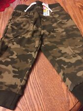 Pants For Baby Boy, Size 12 Months, Garanimal Brand, Army Fatigue Color