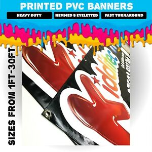 PVC Banners   FROM 1-30FT!! Custom Printed Sign with Free Basic Design Included.