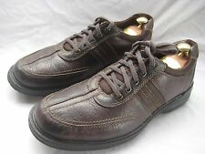 CLARKS Brown Leather Oxfords MENS 12 MED Fashion Sneakers Lace Up Casual Shoes
