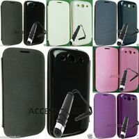 NEW BATTERY BACK LEATHER FLIP POUCH COVER CASE FOR SAMSUNG GALAXY S3 I9300 SA06