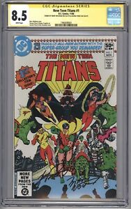 New Teen Titans #1 (1980) CGC 8.5 SS Signature Series *Signed by Wolfman & Perez