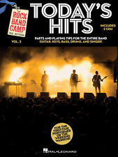 """""""Today's Hits-Rock Band Camp Volume 2"""" Music Book/2-Cd'S-Guitar/D rums.Singer-New"""