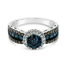Le Vian Exotics ® Anillo-Azul/Chocolate/Vainilla diamantes ® ® oro Vainilla - 14K