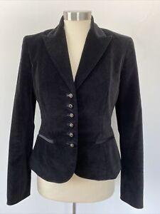 TAHARI Velvet Jacket Blazer With Grosgrain Trim &  Decorative Buttons Woms sz: 4