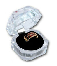 12 PCS CRYSTAL CLEAR RING BOX
