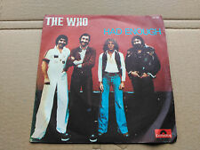 SINGLE THE WHO - HAD ENOUGH / WHO ARE YOU - POLYDOR FRANCE 1978 VG/VG+