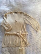 Beautiful WINDSMOOR knitted Viscose/ Silk Sleeves Cardigan With Belt-10/12 Cream