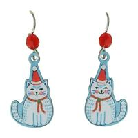 Sienna Sky Christmas Cat Pierced Earrings ~Made in Colorado, USA ~with Gift Box~