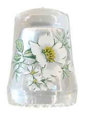 Fingerhut de vaso de cristal estampado flores-ae 758