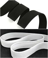 White/Black 25mm (1 inch) Wide Flat Strong Woven Elastic-25m (loose packing)