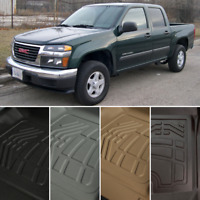 SureFit Floor Mats Liners Front, Second Row for 2015-2021 GMC Canyon CREW CAB