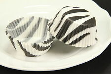 100x 2'' Cupcake Liners Baking Cups, Black White Zebra, Standard Size