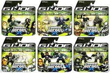 GI Joe Rise of Cobra Combat Heroes Wave 1 All 6 Sets!