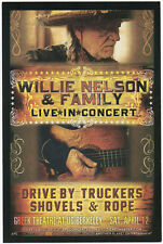 VERY NICE MINT 2014 WILLIE NELSON DRIVE BY TRUCKERS BERKELEY CA CONCERT HANDBILL