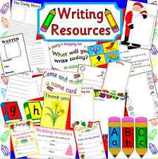 Writing resources on CD- phonics, alphabet, mark making, literacy- EYFS, KS1,KS2