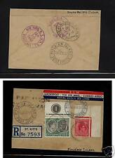 St Kitts  Nevis registered cover  to  Pitcairn Island