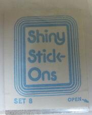 Vintage Z1400 1981 Shiny Stickons 8 Cracker Jack CJ Prize Premium Sticker Toy