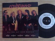 """CONTRABAND (L.A. GUNS, VIXEN) -ALL THE WAY FROM MEMPHIS - 45 GIRI 7"""" ENGLAND"""