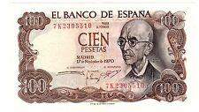Espagne SPAIN ESPANA Billet 100 PESETAS 1970 P152  NEUF UNC