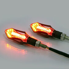Motorcycle Motorbike Quad LED Indicators with Integrated Stop & Tail Lights