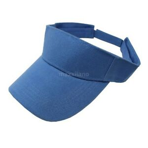 Visor Sun Hat Golf Tennis Beach Men Women Cap Adjustable Sports Plain Colors