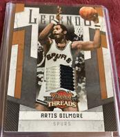 Artis Gilmore 2009 Panini Threads Legends SSP Patch Relic #d / 25, NBA HOF'er